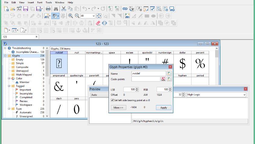 FontCreator Pro 12.0.0.2545 & Clave de registro (Ultima versión)