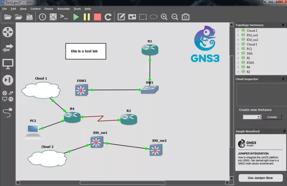 GNS3 2.1.21 descarga gratuita (Ultima versión)