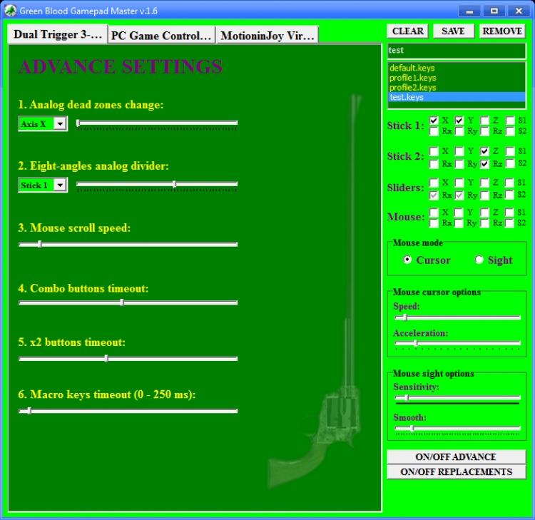 Green Blood Gamepad Master 1.6 para Windows (Ultima versión)