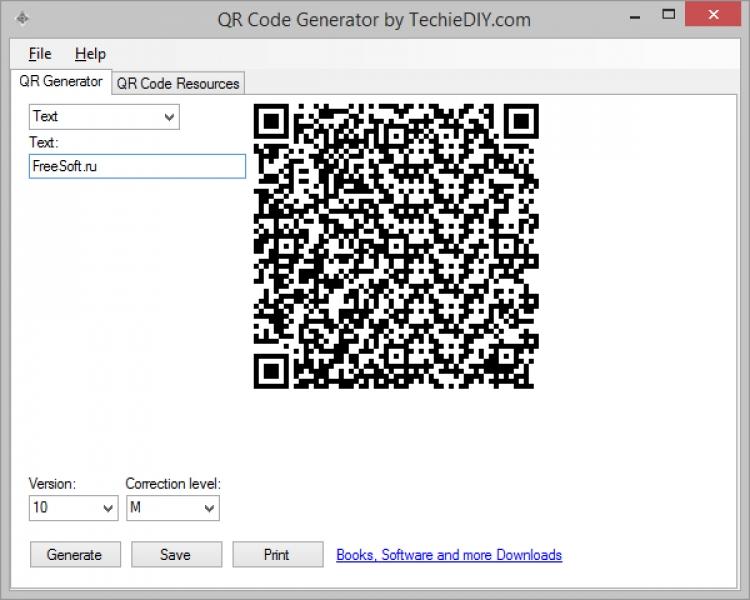 QR Code Generator 1.0 para Windows (Ultima versión)