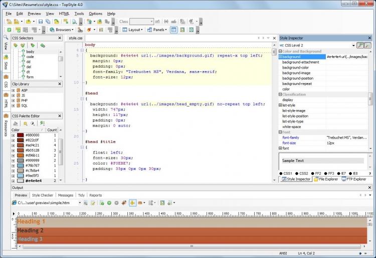 TopStyle 5 5.0.0.108 para Windows (Ultima versión)