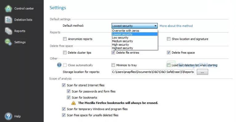 O&O SafeErase 15.2 Build 55 & Clave de registro (Ultima versión)
